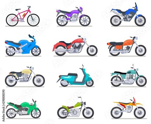Fotografie, Tablou Motorbike set