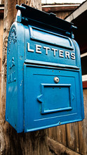 Traditional Old Blue Mail Lett...