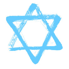 Shield Of David. Star Of David. The Six-pointed Geometric Star Figure Is The Compound Of Two Equilateral Triangles