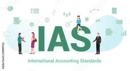 ias international accounting standards concept with big word or text and team pe Tablou Canvas