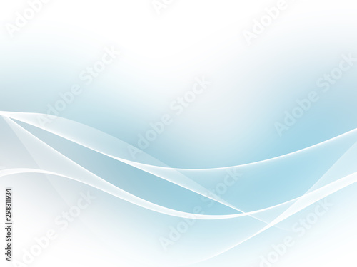 Fotobehang Abstract wave Color light blue abstract waves design