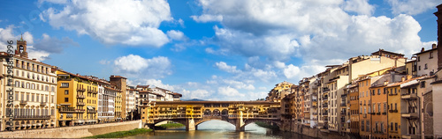 Photo View of the Ponte Vecchio in Florence Tuscany Italy