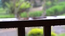 Slow Motion Raindrops Splash O...