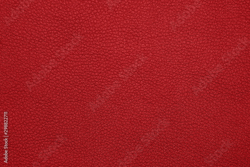 Fotomural Background texture of red natural leather grain