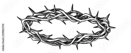 Fotografie, Tablou Crown Of Thorns Religious Symbol Vintage Vector
