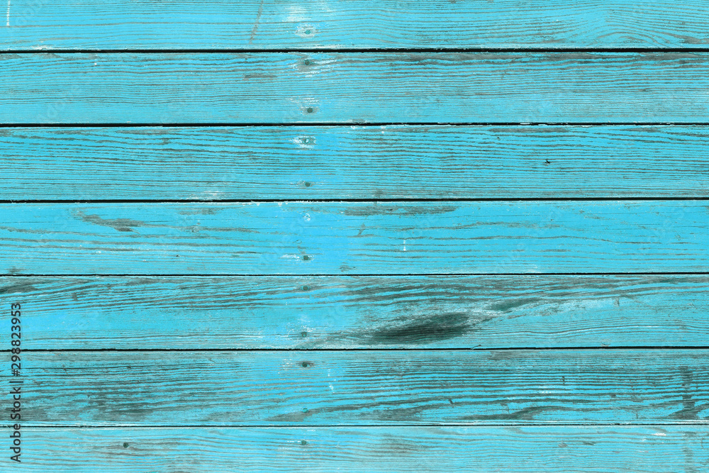 Fototapety, obrazy: The old blue wood texture with natural patterns