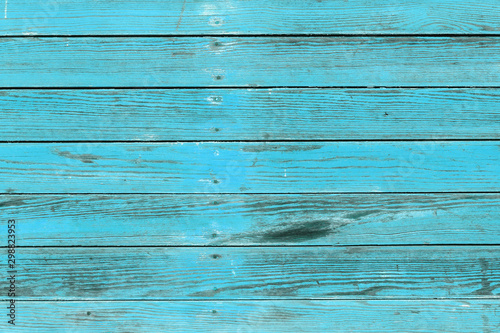 Poster Hout The old blue wood texture with natural patterns