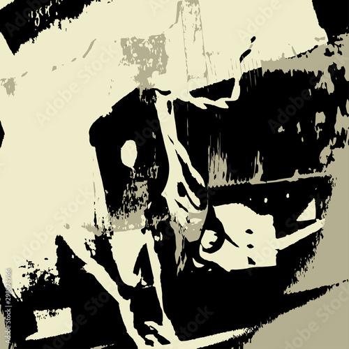 Poster Graffiti Beautiful abstract graffiti gentle pattern