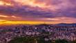 Time lapse Seoul city at sunrise,Viewpoint from Inwangsan mountain Seoul ,South Korea.