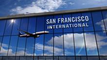 Airplane Landing At San Franci...