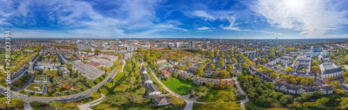 360° aerial panorama of ludwigshafen - 298827394