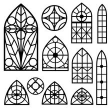 A Set Of Vintage Windows Of Di...