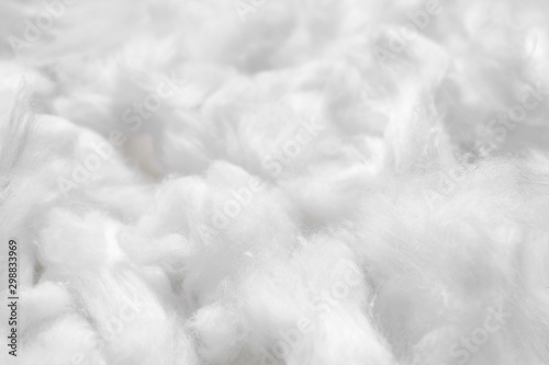 Cotton soft fiber texture background, white fluffy natural material Canvas