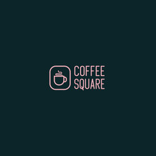 Monoline Coffee Logo Design Si...