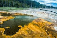 Black Pool In Yellowstone Nati...