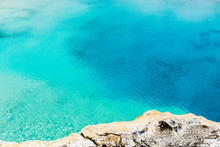 Turquoise Thermal Pool In Yell...