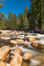 Wild Merced River In The Yosem...