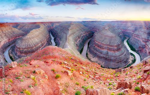 Goosenecks in Utah, USA