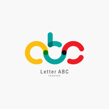 Colored Letter Abc