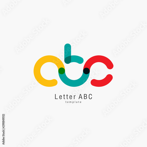 Photo Colored letter abc