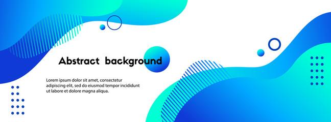 Tekuća apstraktna pozadina. Predložak venera plave tekućine za društvene medije, web stranice. Valoviti oblici