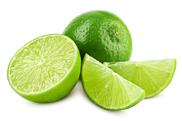 lime isolated on white background, clipping path, full depth of field