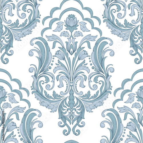 Tapeta do sypialni  vector-damask-seamless-pattern-element-classical-luxury-old-fashioned-damask-ornament-royal