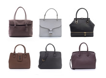 Group Of Women Leather Handbag...