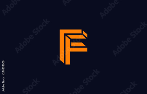 Photo  Initial F Letter Logo Design Vector Template