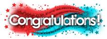 Congratulations In Stars Color...