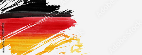 Fotomural Banner with abstract flag of Germany