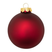 Red Christmas Ornament Baubles...