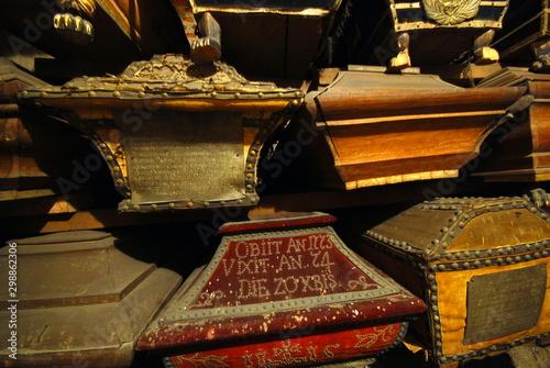 Fotografie, Obraz  crypts in the Reformed Church in Krakow