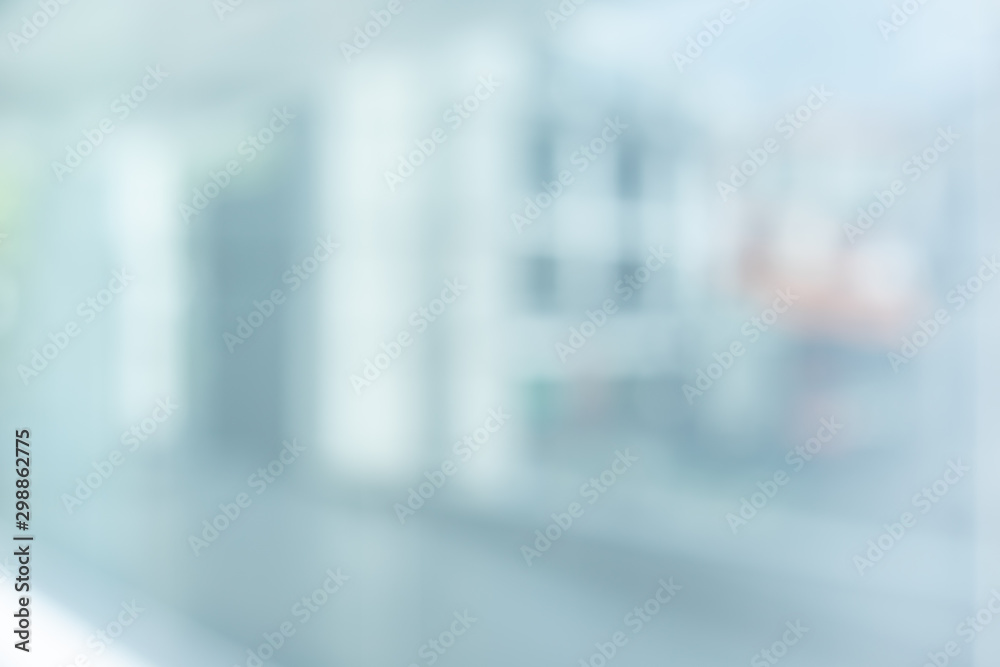Fototapeta Blurred of abstract glass wall building,window background.modern material for key visual