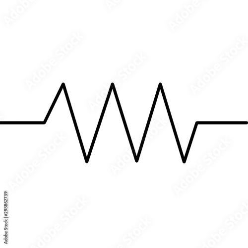 Resistor Thin Symbol For Circuit Design Wallpaper Mural