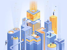 Business Platform Abstract Isometric Illustration