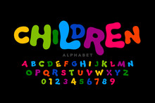 Children's Style Colorful Font...