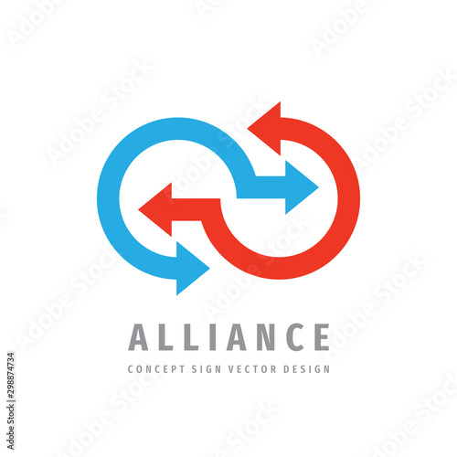 Alliance communication logo template design Wallpaper Mural