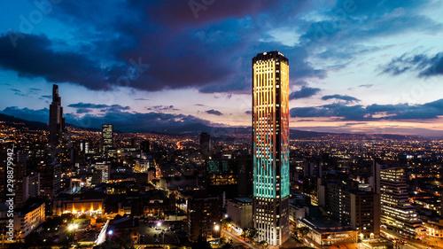 Colpatria Tower, Bogotá, Colombia Canvas Print