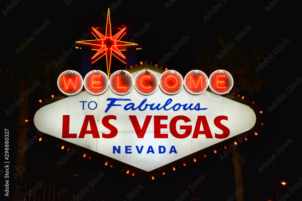 Fototapety, obrazy: Welcome to Fabulous Las Vegas sign.