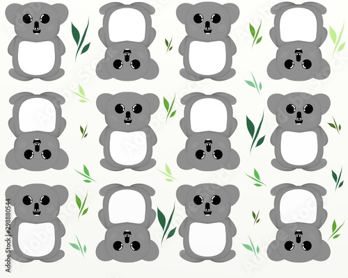 Koala Bear Cartoon Pattern - Cute Baby Joey