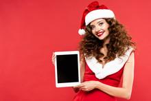 Beautiful Girl In Santa Costum...