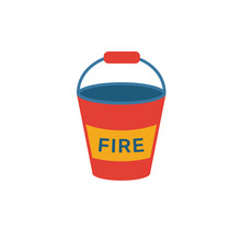 Fire Bucket Icon. Simple Flat ...