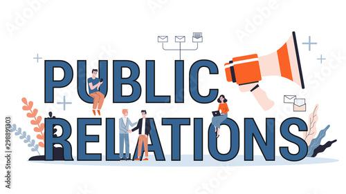 Fotografia, Obraz  Public relations concept