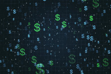 Creative Background With Dollar Signs