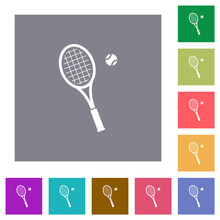Tennis Racket With Ball Square...