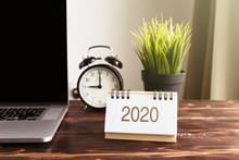 New Year 2020 Calendar On Offi...