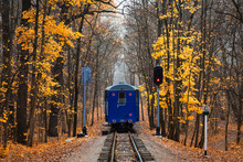 Railroad Single Track Through ...