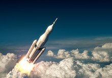 Flight Of Big Carrier Rocket A...