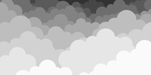 Sky With Dark Clouds. Vector I...
